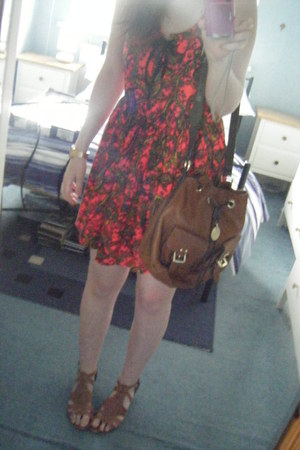 Topshop dress - Mulberry bag - Urban Outfitters watch - new look sandals