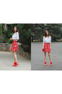 Red-topshop-skirt