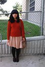 Dark-brown-shoes-burnt-orange-sweater-heather-gray-sweater-eggshell-lace-h