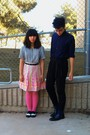 Bubble-gum-hue-tights-black-h-m-pants-black-thrift-shirt-navy-h-m-shirt-