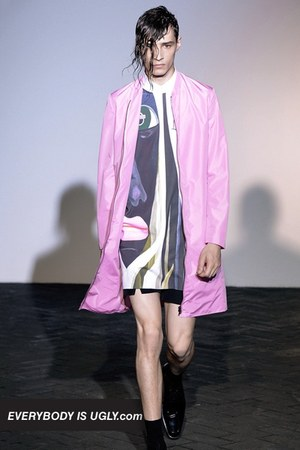 light pink Raf Simons coat