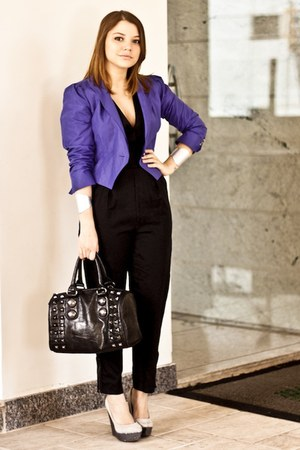 blue shop 126 blazer - black Aldo bag - black Stella McCartney for C&amp;A romper
