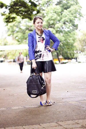 shop 126 blazer - H&amp;M t-shirt - Laf skirt