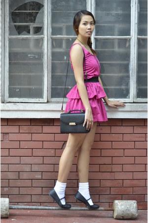 zippers Pink Manila dress - leather vintage Newport bag