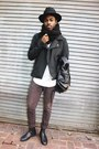 All-saints-boots-pendleton-hat-zara-jacket-aritzia-shirt-topman-pants