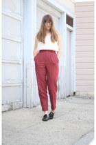 monk strap mens vintage flats - vintage pants