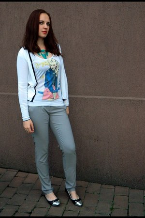 white Gérard darel blouse - light blue classic Vero Moda pants