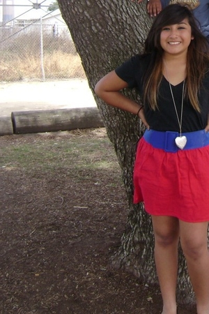 Target skirt - PacSun shirt - Forever 21 belt