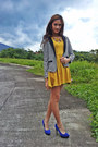 Dress-striped-blazer-parisian-shoes-pumps
