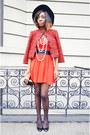 Red-a-line-aline-h-m-dress-red-tweed-forever-21-jacket