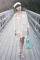 neutral Champagne and Strawberry jacket - ivory Lush dress