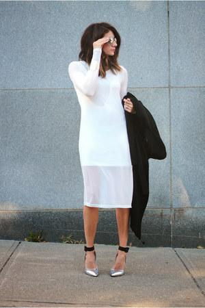 shoemint heels - white anthom dress