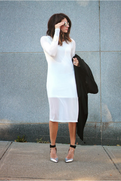 shoemint heels - white anthom dress