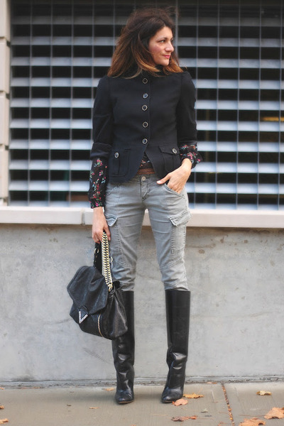 jacket - Manolo Blahnik boots - pants