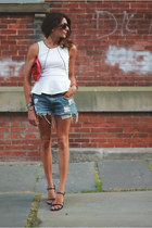 peplum shirt - Levis shorts