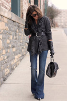 7 for all mankind jeans - gray sweater - pour la victiore bag