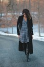 Heather-gray-plaid-mango-dress