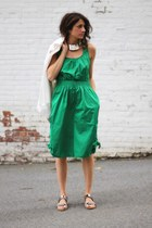 green culottes Armani Exchange romper - white anthom jacket