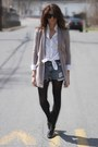 Heather-gray-anthropologie-jacket-levis-shorts