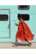 orange cover up H&M dress