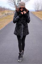 black sporto boots - black coat