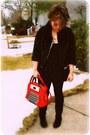 Black-suede-otk-nine-west-boots-black-ruffle-forever-21-dress-black-acrylic-