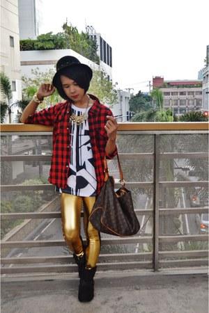 ankle kohls boots - Teen Idle jacket - futuristic gold born pretty leggings