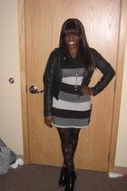 black JouJou jacket - black TJ Maxx leggings - black Forever 21 boots
