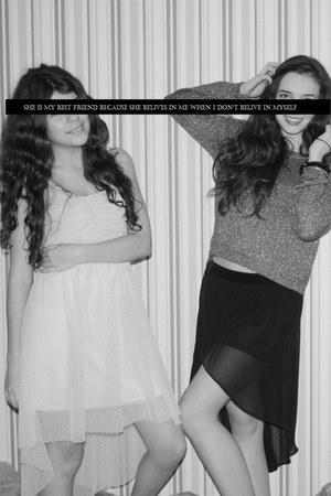 BERSKA dress - black Stradivarius skirt