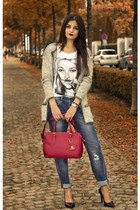 credi bag - boyfriend jeans mac jeans - Eleven Paris t-shirt