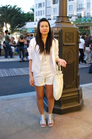Nordstrom BP top - H&amp;M shorts - H&amp;M purse - Korean boutique blazer - shoes