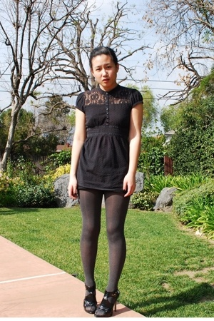top - Chinese Laundry tights - Steve Madden shoes