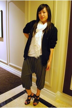 H&M shirt - H&M scarf - pants - American Apparel jacket - Steve Madden