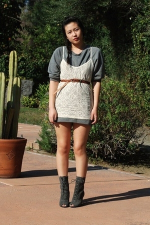 H&M sweater - V Generation top - Forever 21 belt - Deena & Ozzy boots