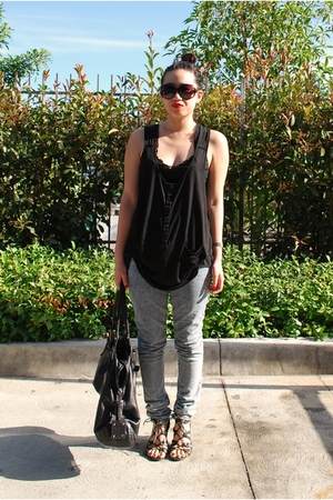 forever 21 top - forever 21 jeans - Mossimo - H&amp;M sunglasses - H&amp;M purse