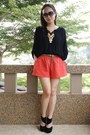 H-m-shorts-autumn-ripple-necklace-thepoplook-top-topshop-heels