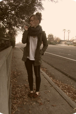 Urban Outfitters shoes - Wet Seal jeans - Marshalls jacket - Forever 21 scarf