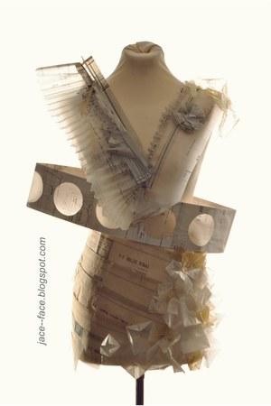 beige planning paper JACEFACE dress