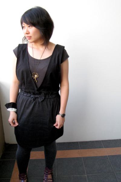 NafNaf top - Glebe Market skirt - handmade top - Magik necklace
