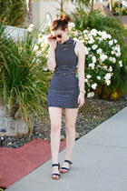 black American Apparel dress - black Stylenanda sandals