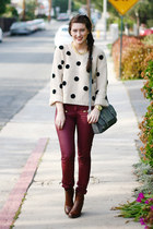 heather gray Target purse - brick red asos pants