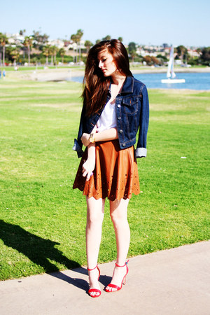 light brown ASTR skirt - red Target shoes - navy Target jacket