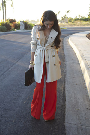 trench coat Burberry coat - Zara pants - sequined Jcrew top