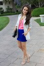 Elizabeth-james-blazer-vintage-necklace-mini-dvf-skirt-studded-valentino