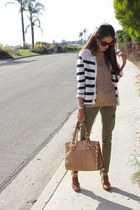 Jcrew top - Topshop sweater - free people pants