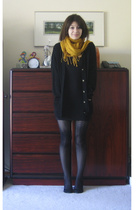 H&M scarf - thrift sweater - aa skirt - me too shoes