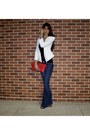 Bell-bottom-7-for-all-mankind-jeans-studded-clutch-steve-madden-purse