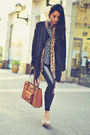 bronze leopard print vintage scarf - neutral pumps Forever 21 shoes
