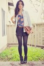 Blue-forever-21-dress-light-blue-gap-jacket-dark-gray-forever-21-shorts-ta