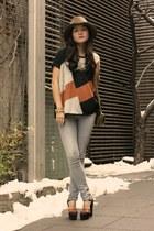 AX Paris sweater - vintage shoes - rag & bone hat - coach purse